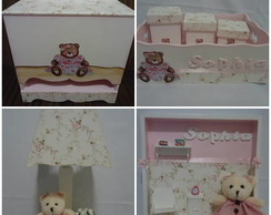 Kit Higiene Beb� Ursinha 7 pe�as