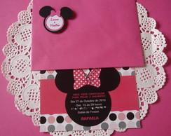 Convite Tema Minnie Pink