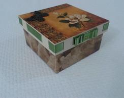 Caixa em MDF - Fita verde
