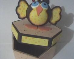 Caixa MDF decora, coruja