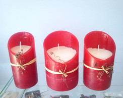 TRIO VELAS DECORATIVAS