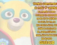 Urso Agente Especial Convite Anivers�rio