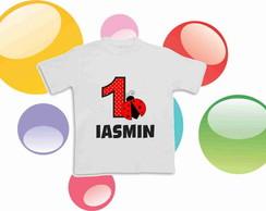 Camiseta Anivers�rio Joaninha