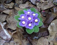 vasinho de violeta de meia de seda