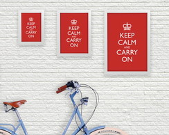 Pop Poster A4 - Keep Calm And Carry On