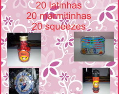 Garrafinha, Latinha, Tubete, Marmitinha