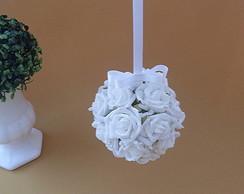 Bola de Rosas Branca