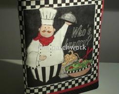 Capa + Caderno de Receitas Cozinheiro