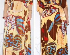 Vestido Maxi Dress Estampado Moda Grande