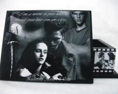 Caixa De Fotos Crepusculo Preto e Branca
