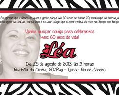Convite Zebrinha Rosa