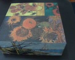 Caixa com dobradi�as - Van Gogh Mix
