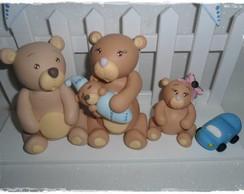 Enfeite de Porta Maternidade Ursinhos