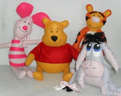 KIT Decora��o Turma do Ursinho Pooh/Puff