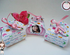Convite Caixinha Tema Candy