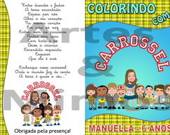 Kit Colorir Carrossel
