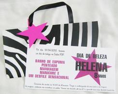 20 CONVITES BOLSINHA LARISSA#fretegratis