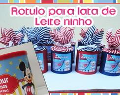R�TULOS PARA LATA DE LEITE NINHO