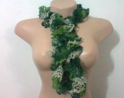 Cachecol Frufru Mescla verde