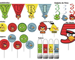 Festa Angry Birds - 80 itens