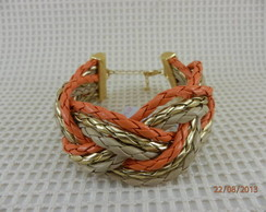 Pulseira / Bracelete Cenoura tran�a
