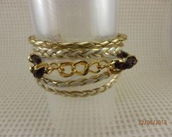 Pulseira  Bracelete Dourada corrente