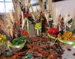Kit festa flores secas verde pistache