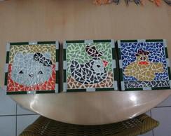 Porta panelas mosaico