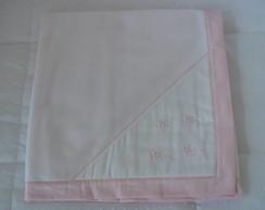 (MTA 0066) Manta soft floral rosa