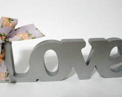 Palavra Love 01 Prata Em Mdf