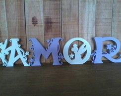 Letras decoradas arabescos