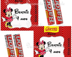 R�tulo chocolate Baton Minnie 6,5x6,5 cm