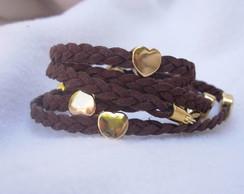 Bracelete Marrom de Cora��o