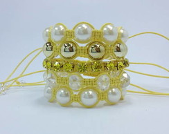 Kit Shambala com strass citrine