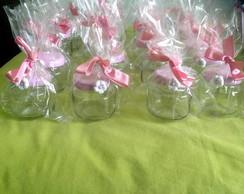 Potinhos de vidro florzinhas