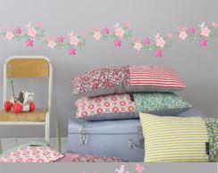 Adesivo Faixa Floral 020-rosa