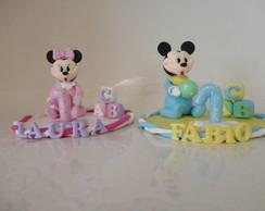 Topo de Bolo Mickey / Minnie  Baby