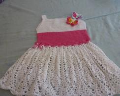Vestido De Beb� Em Croch� - borboletas
