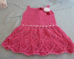 Vestido De Beb� Em Croch� - joaninhas