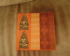 Caixa biju India c/ bandeja e aneleira