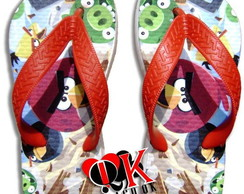 Chinelo Customizado Angry Birds Infanto