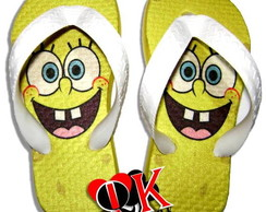 Chinelo Customizado Adulto Bob Esponja