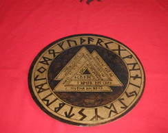 Placa Valknut & Runas(media)