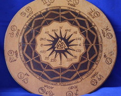 Placa Mandala Astrologica (media)