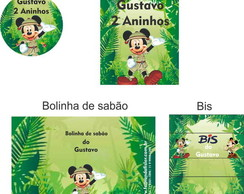 Festa, R�tulos  Mickey Safari 2