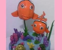 Topo de Bolo Procurando Nemo-  biscuit
