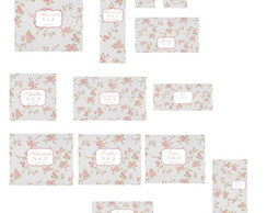 R�tulos Adesivo Para Kit Toilet- Floral
