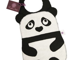 Lixinho de carro panda feltro *