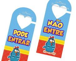 Aviso de porta Galinha Pintadinha