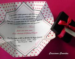 Convite de 15 Anos Po� Rosa Pink
